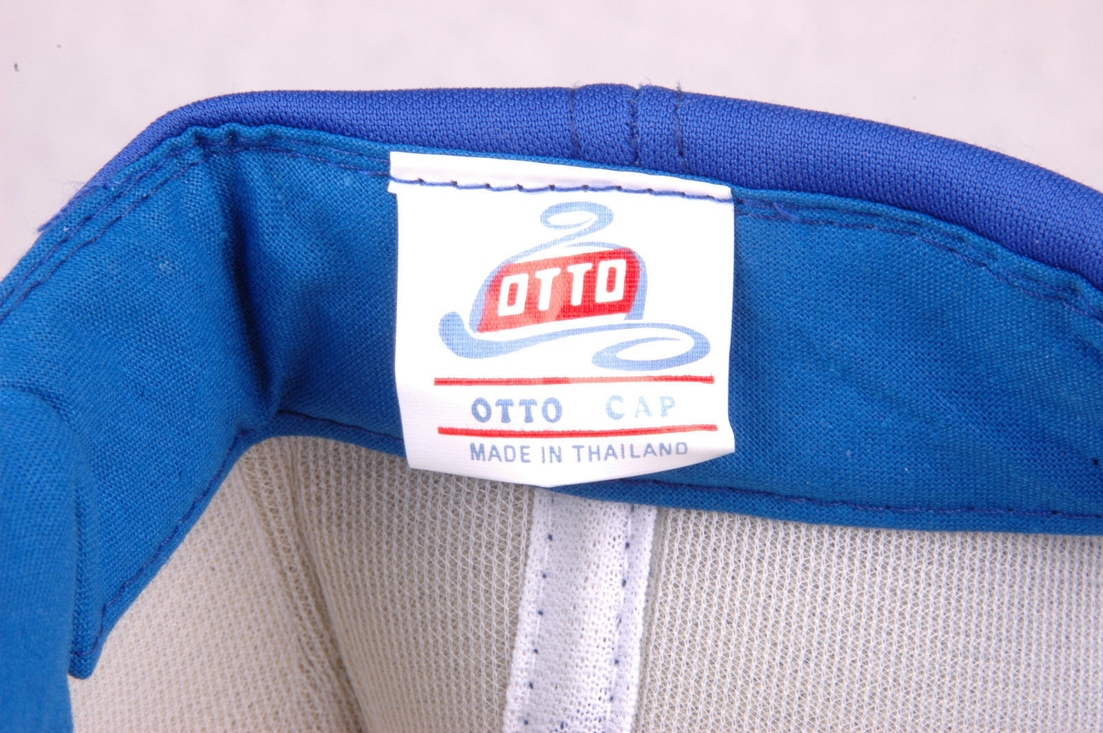 Vtg Cover Jones FORD Motor Co Hat-Blue-Snapback-Rope Bill-Otto-Foam Lined-Auto