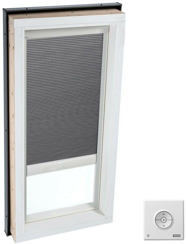 Velux Skylight Blind 27 4 In Room Darkening Solar Powered