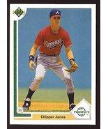 1991 Upper Deck # 55 Chipper Jones Atlanta Braves / MLB Baseball Card in... - $1.29