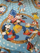 Disney Wamsutta Full Double Fitted Sheet VINTAGE Patriotic Mickey Mouse ... - $46.44