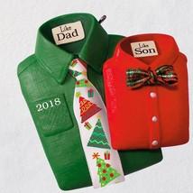 Like Dad, Like Son Shirts and Ties 2018 Hallmark Ornament - $19.79