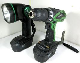 HITACHI DS 18DVF3 Cordless Driver Drill, UB 18D Work Flashlight + 2 Batt... - $49.45