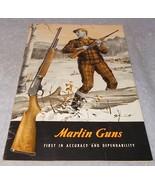 Marlin Firearms Co Hunting Rifle Catalog 1954 John Scott Cover New Haven... - $19.95