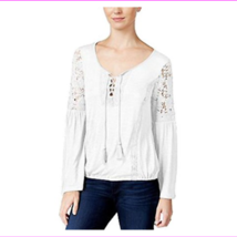 American Rag Womens Lace-Up Bell-Sleeve Top - $8.18