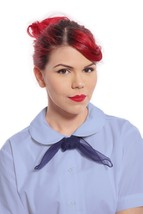 Womens Blue Peter Pan Collar Button Up Blouse - XS to 2X - Hey Viv 50s Style - $16.98