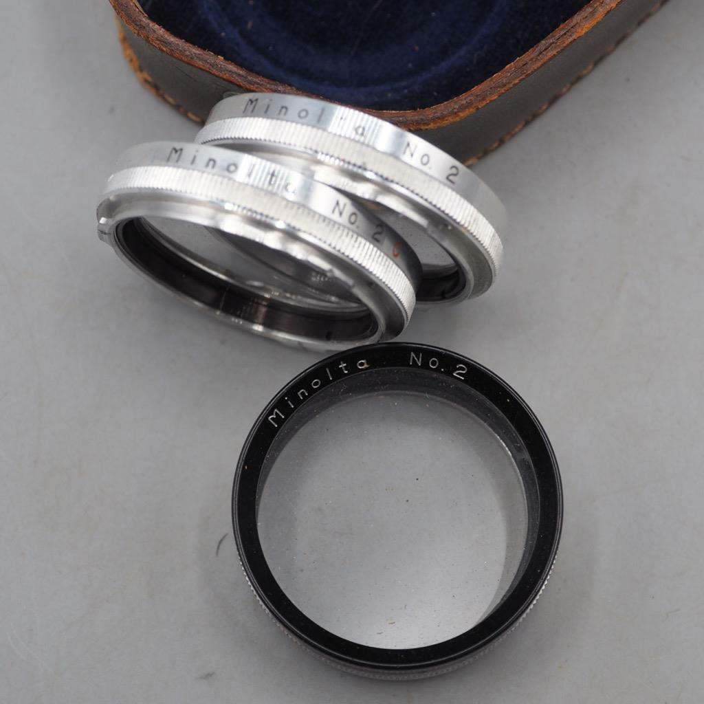 Minoltaflex Close-up Filter No 2 w/ Case for Rolleicord Camera Vtg