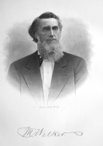 MARTIN WELKER Ohio federal Judge - SUPERB Portrait 1883 Print - $13.86