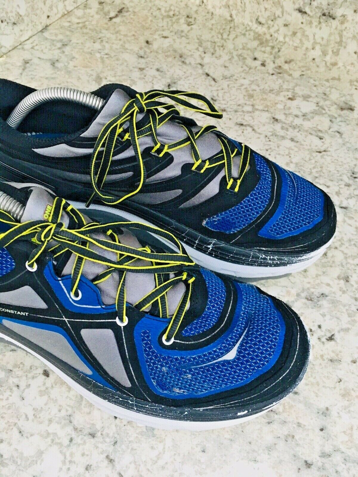 HOKA One One Constant Blue Yellow & Black running Shoes Men's SIZE 10 image 2