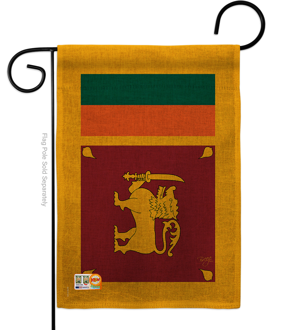 Primary image for Sri Lanka Burlap - Impressions Decorative Garden Flag G158256-DB