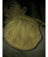 VANESSA Sassy Vintage Gold Pleated Puff Handbag - $11.88