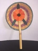 Vintage Decorative Hand Held Fan Beautifully Handmade - $22.28