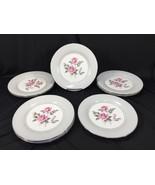 "(8) Noritake China Arlington 5221 Japan 10"" Dinner Plates Pink Roses - $49.99"