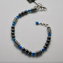 Bracelet en Argent 925 avec Turquoise Ed Hématite BLE-2 Fabriqué en Italie By image 6