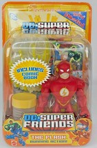 The Flash Dc Super Friends Running Action Mattel Collectible W/ Comic Book - $29.91