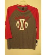 Womens NWT District Made Gray Red Baseball MOM Baseball T Shirt Size M L - $12.95