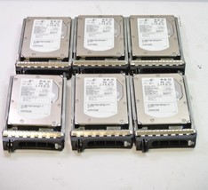 Dell PowerEdge SAS Drive Caddy CN-0F9541, Lot 6 w/ 73GB 15K HDD's - $59.99