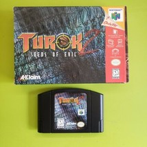 Nintendo 64 N64 | Turok 2 Seeds of Evil | Complete In Box CIB - $21.78