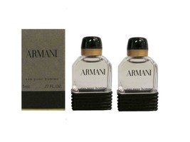 ARMANI by Giorgio Armani 2 x 5 ml Eau de Toilette Miniature for men - $24.95