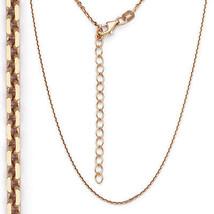 Hommes / Femmes Argent 925 14k or Rose Revêtement Thin Chaîne Mailles Câble - £18.08 GBP