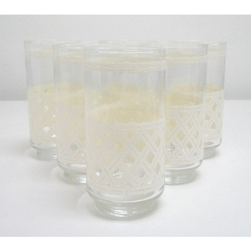 Vintage Mid-Century Faux Bamboo Drinking Glasses-Set of Six