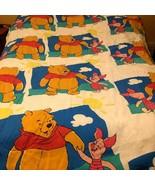Vtg. Disney Winnie The Pooh Piglet Reversible Comforter, Top Sheet, Pill... - $65.44