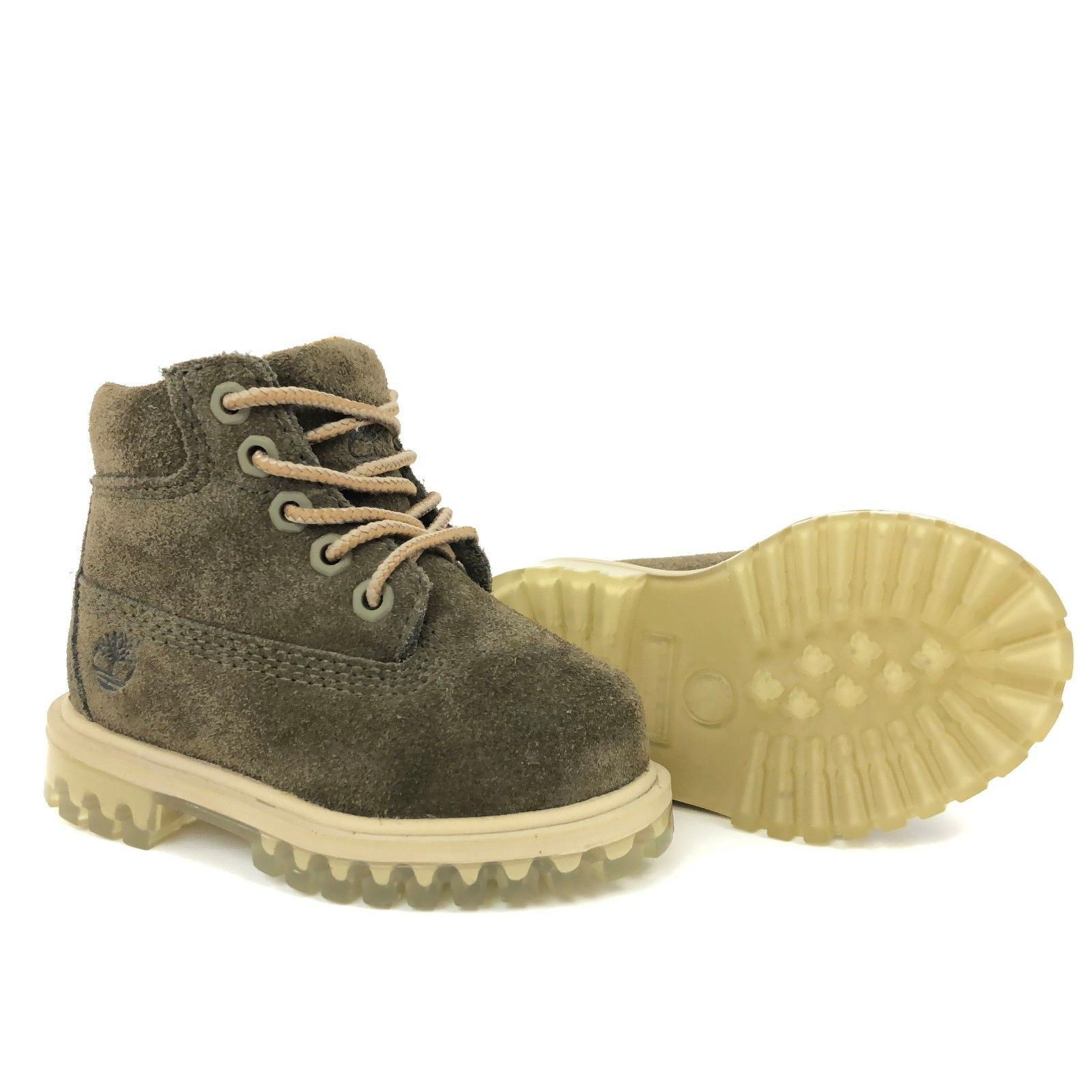 """Timberland Toddler's 6"""" Premium Dark Green Suede Boots A1BM2 LIMITED RELEASE"""
