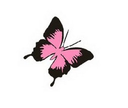 PANDA SUPERSTORE Butterfly Car Decal Stickers Free Decals Black and Pink, Set of