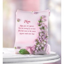 Mom Poetic Plaque Mother Standing Pink Scroll-shaped Plaque - $5.30