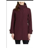 Kirkland Signature Ladies' Trench Rain Coat Jacket MERLOT, SZ M - $33.24