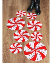 ceiba tree Peppermint Floor Decals Stickers for Christmas Candy Party De... - $14.72