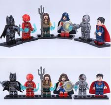 6pcs Superhero Aquaman Superman Cyborg Flash DC Justice League Minifigur... - $14.99