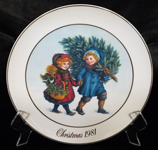 AVON CHRISTMAS PLATE 1981 1ST EDITION - $10.80