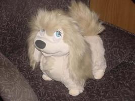 "11"" Disney Peg The Pekingese Plush Stuffed Toy From Disney Lady & The Tramp - $93.49"