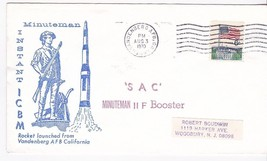 SAC MINUTEMAN II F BOOSTER ROCKET LAUNCHED VANDENBERG AFB CA AUGUST 3 1970 - $1.98