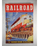Vintage Railroad Magazine October 1952 Train on Cover - $12.82