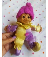 Russ Troll Soft Plush Doll in Joker / Clown Outfit with nappy hair pre-o... - $21.49