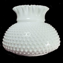 "Milk Glass Hobnail Fenton 7"" Student Lamp Shade Vintage Desk Table Wall ... - $49.95"