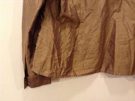 Worthington Women's Petite Size 10 10P Shirt Silk Button Down Top Brown Striped image 7