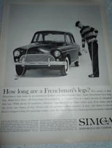 Vintage Chrysler Imported Simca Print Magazine Advertisement 1960 - $8.99