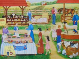 PUZZLE..JIGSAW...SHANNON...Farm Country Fair...300 Piece.. Sealed - $14.99
