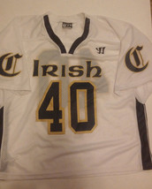 Mens Irish Lacrosse Jersey #40 Large Warrior Authentic - $44.99