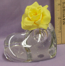 Heavy Glass Heart Paperweight w/ Hole for Small... - $15.83