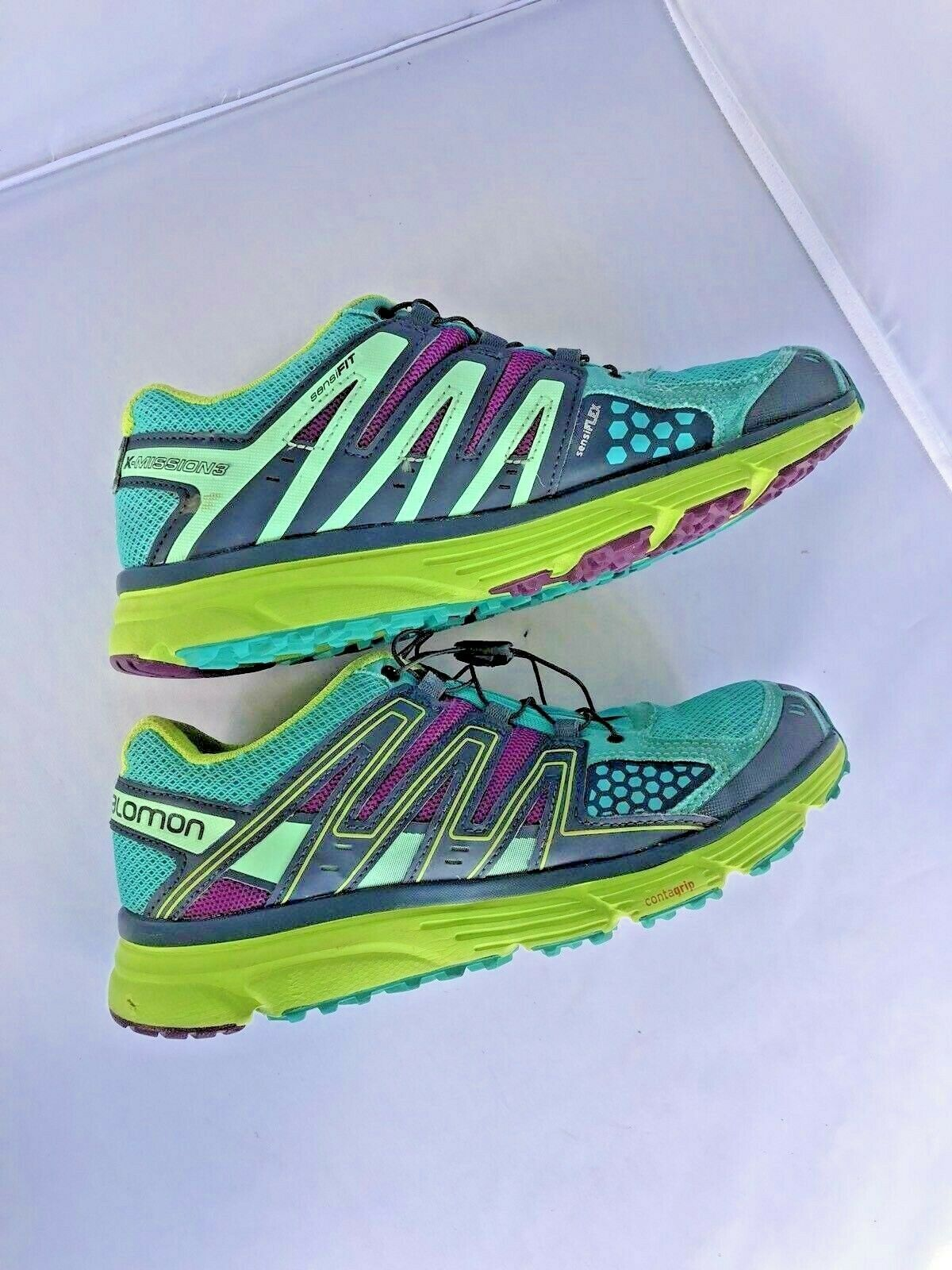 Salomon X Mission 3 Hiking Shoes Size 8 Breathable Running Contagrip Sensifit image 4