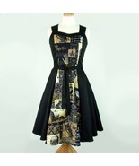 Cute Rockabilly 50s Retro Edgar Allan Poe Raven Dress Pin Up Vintage Fas... - $71.53