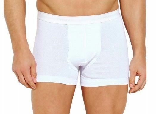 Dkny Men's 3 Pack Sport Premium Classic Cotton Trunks Boxer Briefs White