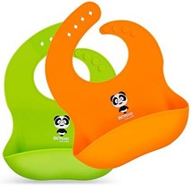 Silicone Baby Bibs Waterproof Baby Bib for Girls and Boys Easily Wipe Cl... - $16.47