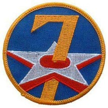 7th Air Force Embroidered Shoulder Patch, WWII  PAT-0106 - $7.90