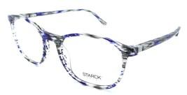 Starck Eyes Mikli Rx Eyeglasses Frames SH3045 0001 54-19-145 Striped Blue Grey - $103.41