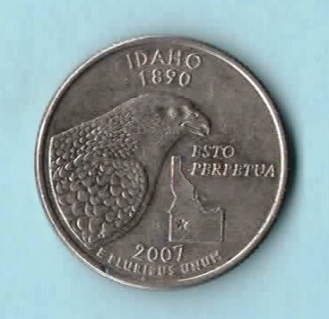 Primary image for 2007 D Idaho State Quarter - Circulated - About XF