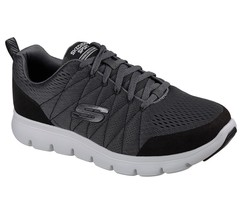 52836 Charcoal Skechers shoe Men Memory Foam Sport Comfort Casual Train ... - $39.99